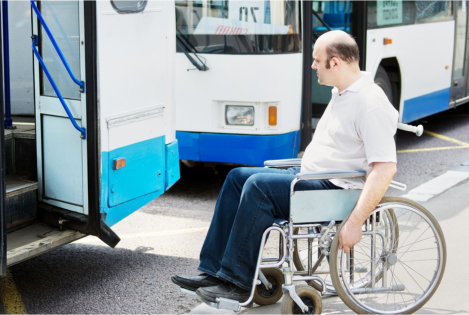 Challenges Faced by a Person on a Wheelchair